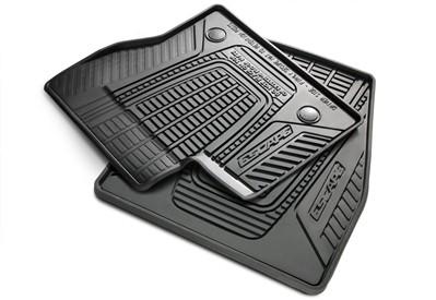 Floor Mats - All Weather Rubber, Black