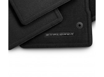 Floor Mats - Carpeted, Black, 4-Piece