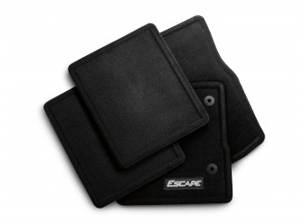Floor Mats - Carpeted, 4-Piece Set, Charcoal Black