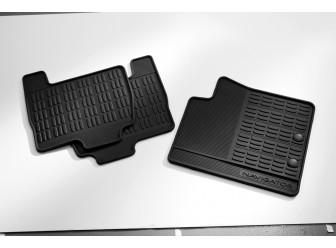 Floor Mats  Rubber, Black 4-Piece