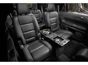 Console - 2nd Row, Sport, Ebony-Redline