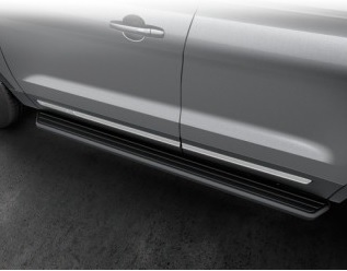 Running Boards - Molded, Carbon Black