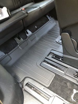 Floor Mats - All-Weather Thermoplastic Rubber, Black Flat Runner, For 3rd Row