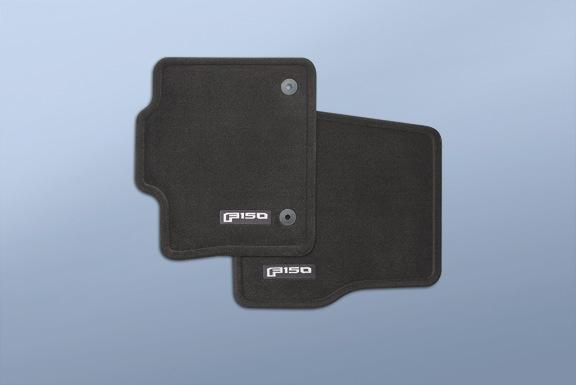 Floor Mats - Carpeted, Black, 2-Piece Set Regular Cab