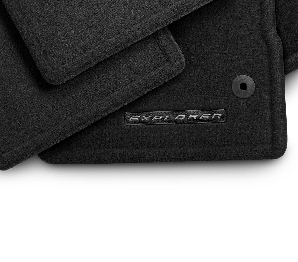 Floor Mats - Carpeted, Black, 4-Piece Set