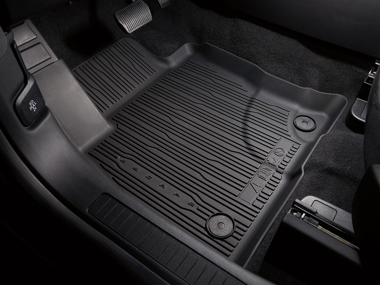 Floor Liner - 4-Piece, Black, For Gas Models