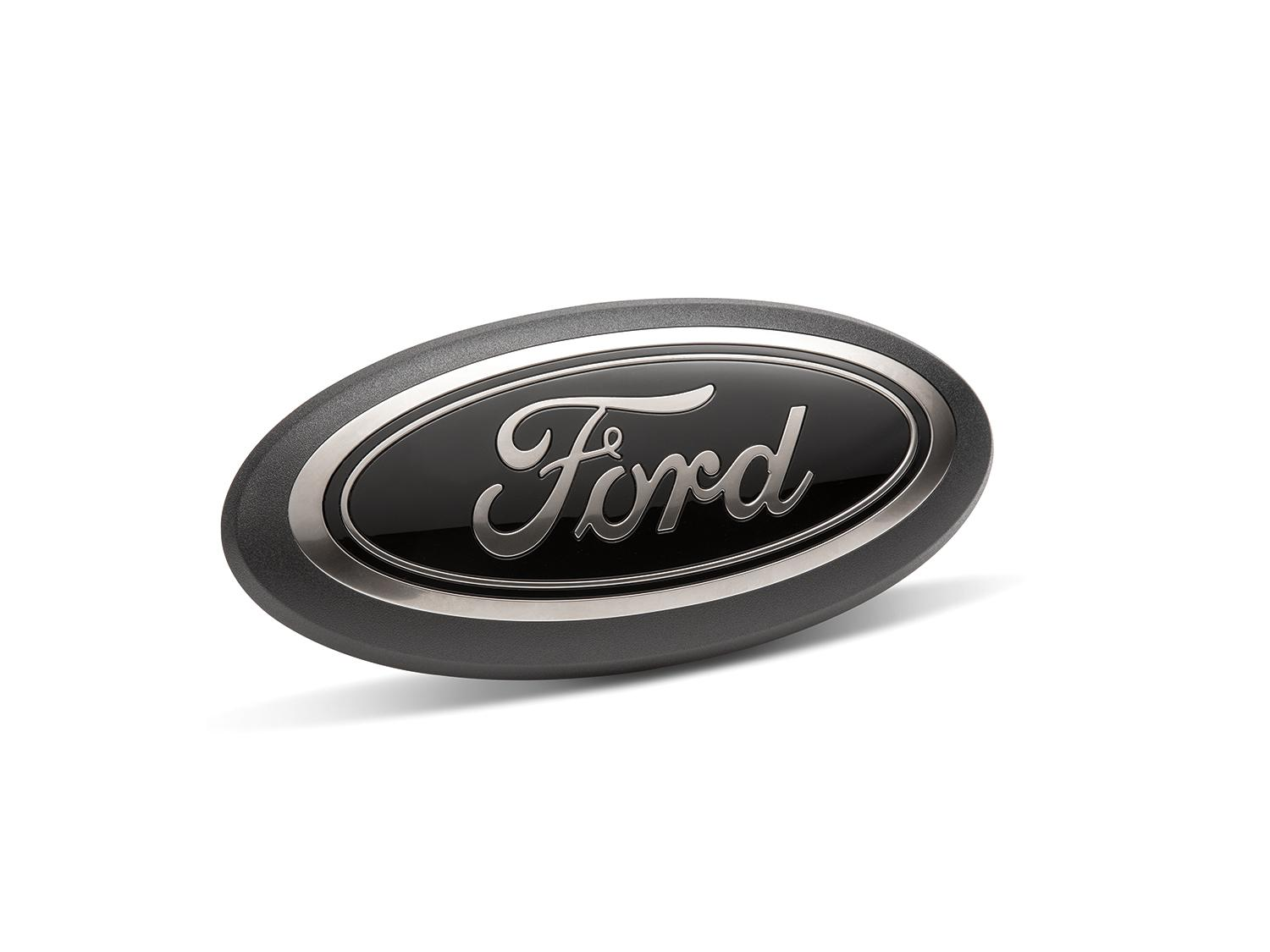 Ford Oval Emblem, Smoke Chrome and Black Oval