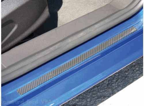 Door Sill Applique - Carbon Black