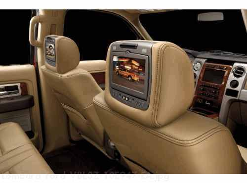 Dual INViSiON DVD Headrest  Leather - Adobe