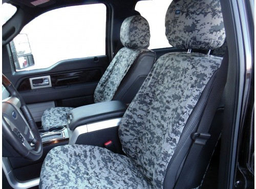 Seat Savers - Front, Winter Camo