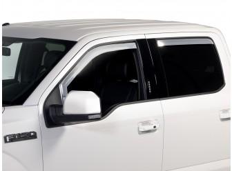 Side Window Deflectors - Chrome, 4-Piece Set