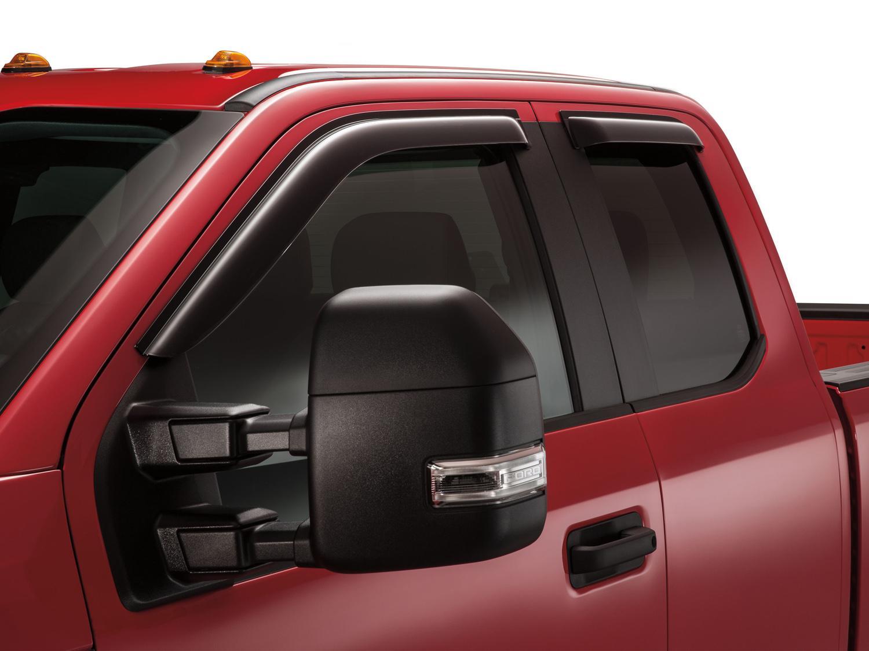 Side Window Deflectors - Smoke Super Cab