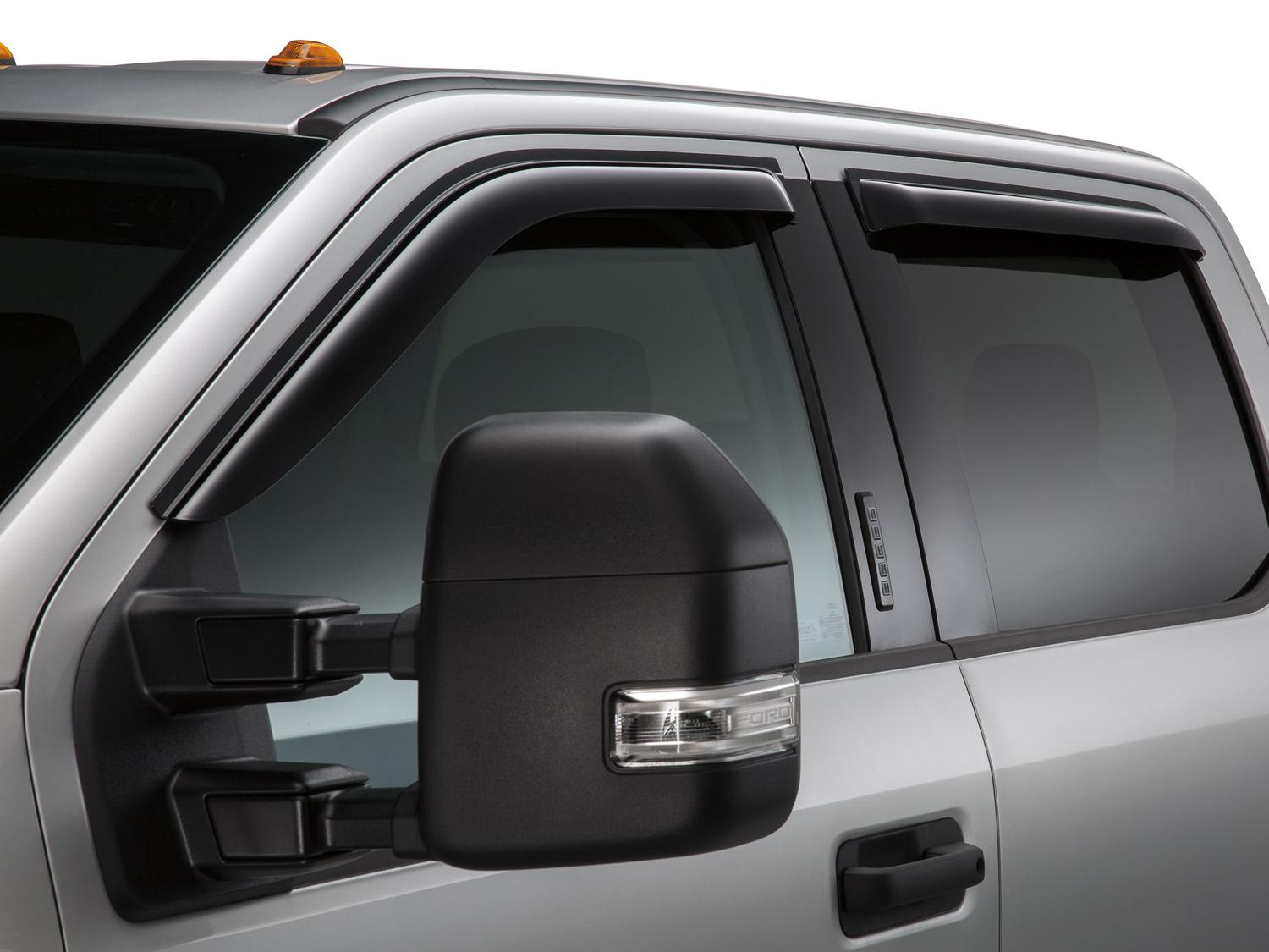 Side Window Deflectors - Smoke, Crew Cab