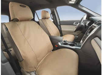 Rear, Bucket Seats, Taupe