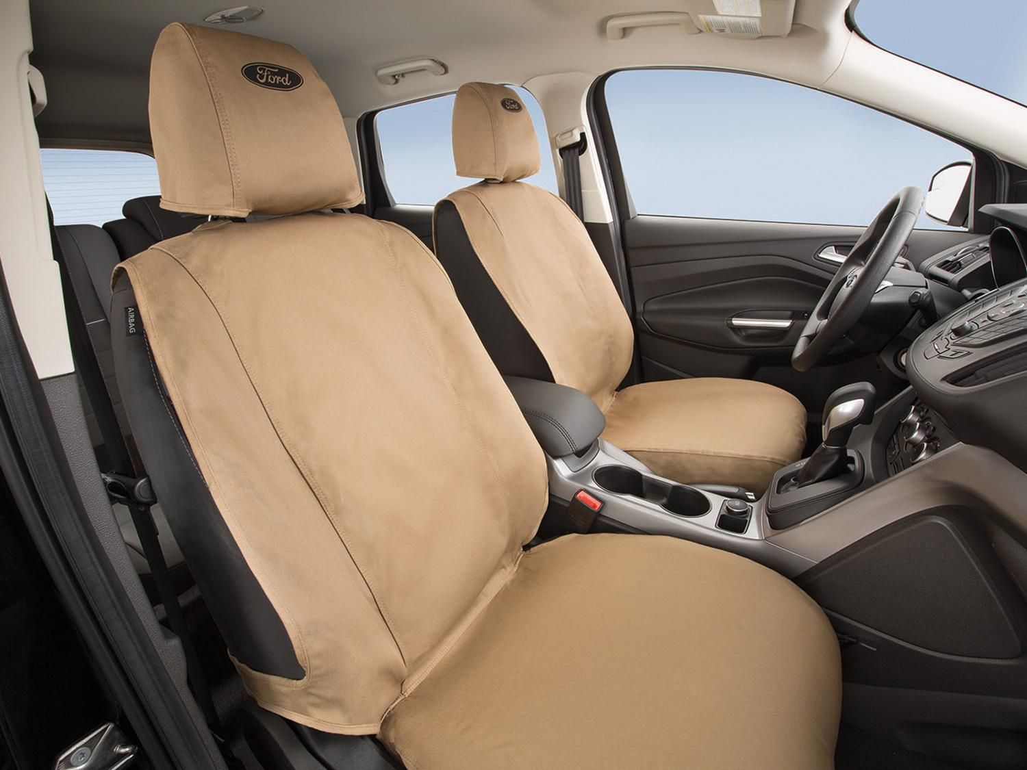 Seat Covers-, Rear, Taupe, S Model