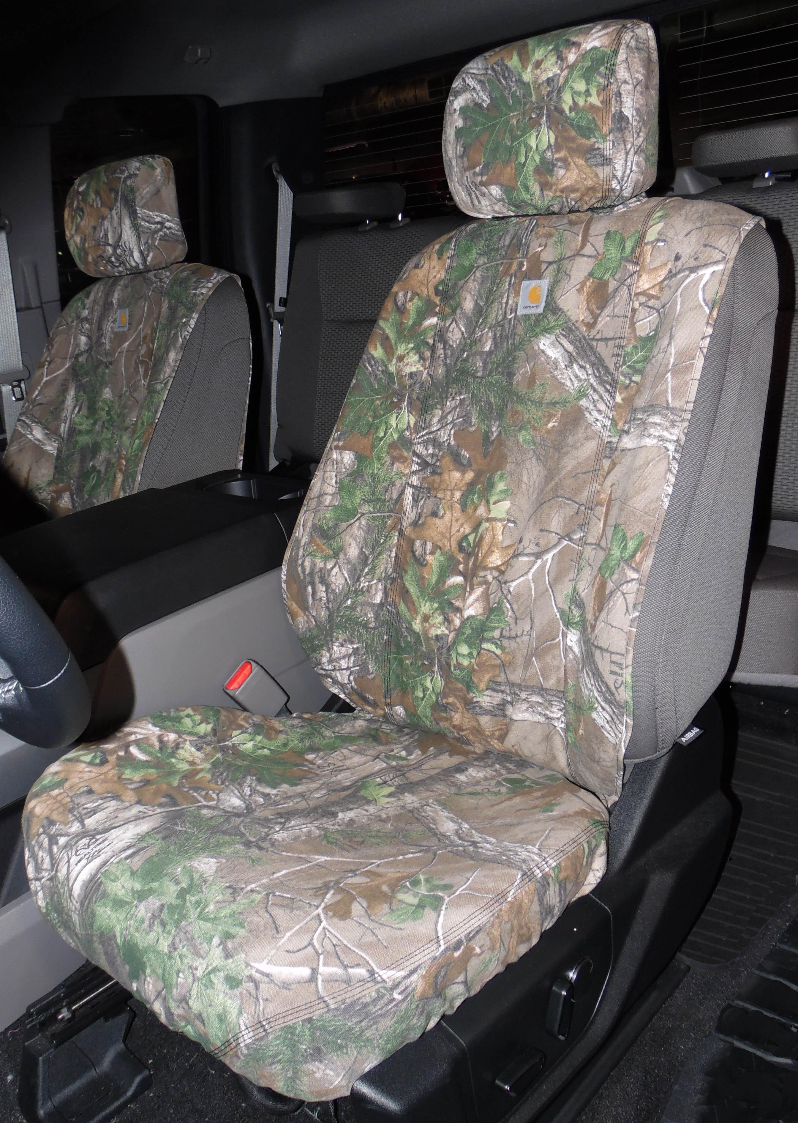 Seat Covers Front Captains, Realtree Xtra Green