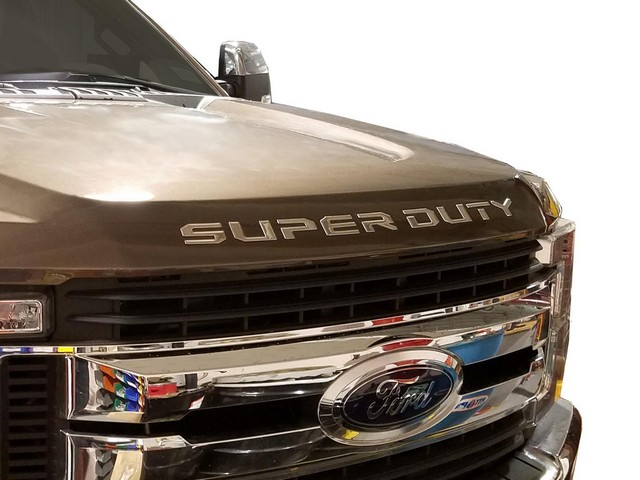 Hood Badge - SuperDuty Lettering, Black Platinum