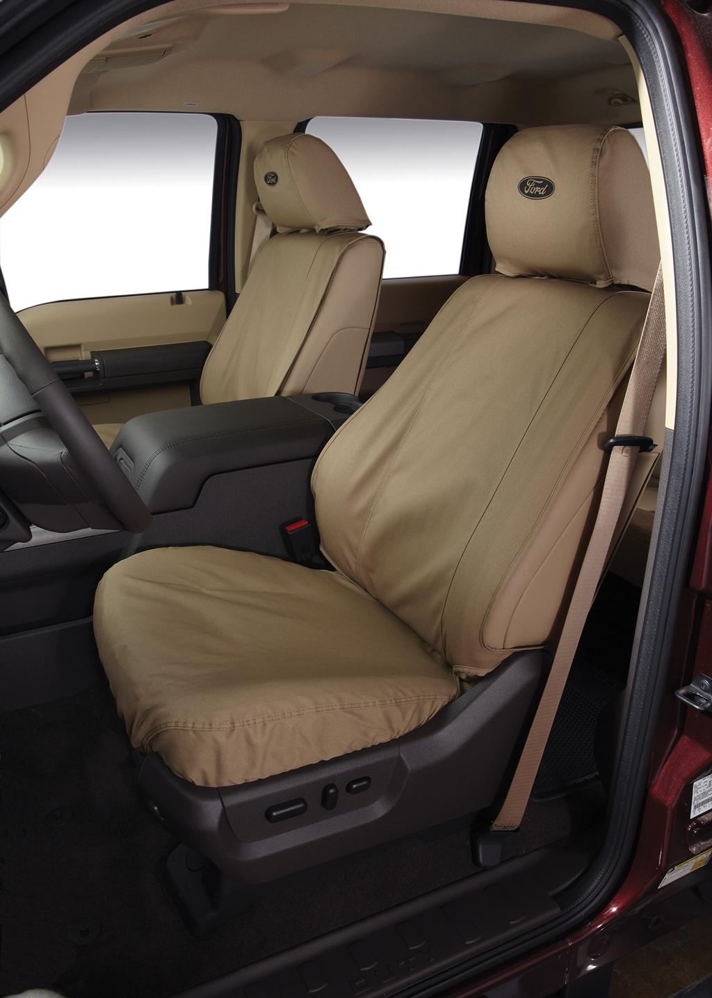 Seat Covers - Front, 40/20/40, Taupe