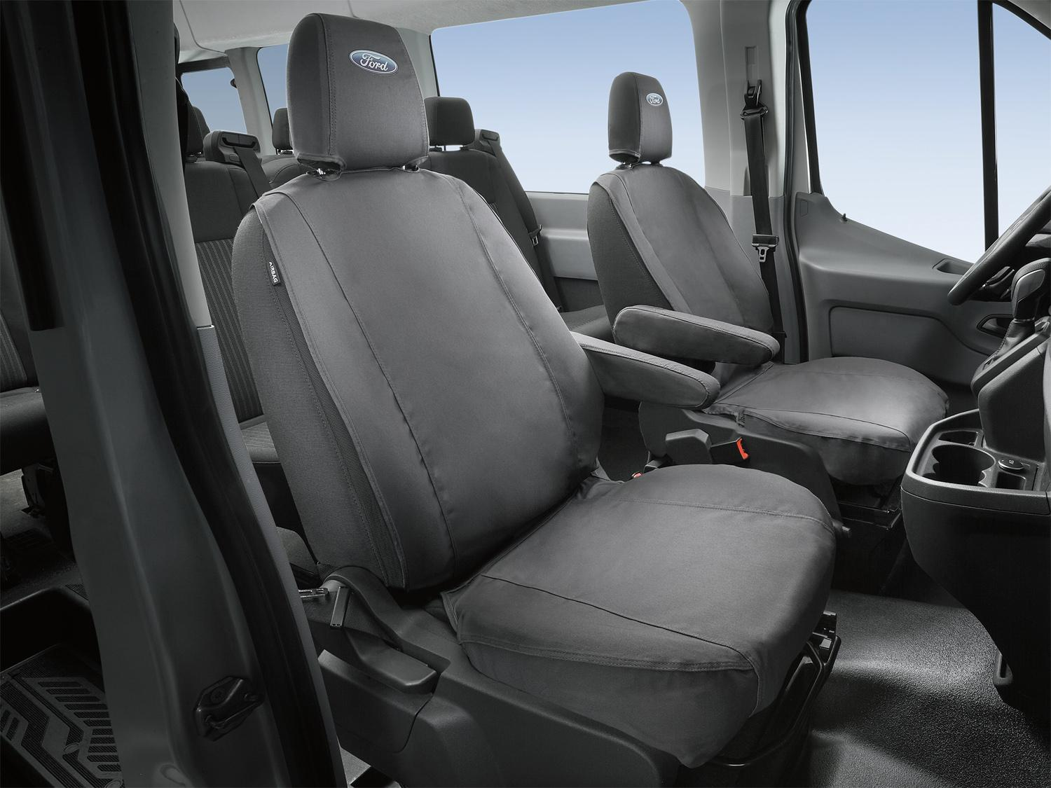 Seat Covers - Front, 40/20/40, Charcoal