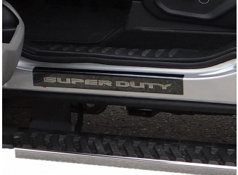 Black Chrome Sill Plate, For Crew Cab