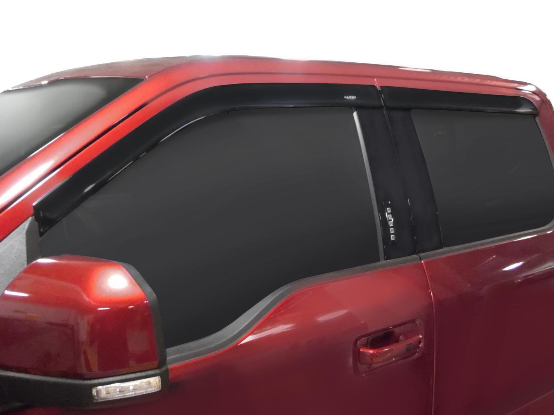 Side Window Deflectors - Low Profile, Crew