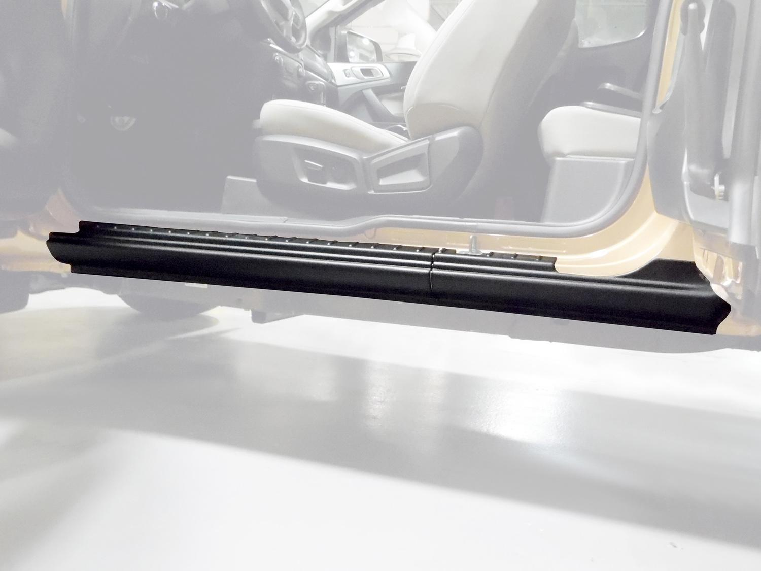Door Sill and Rocker Panel Armor - Black