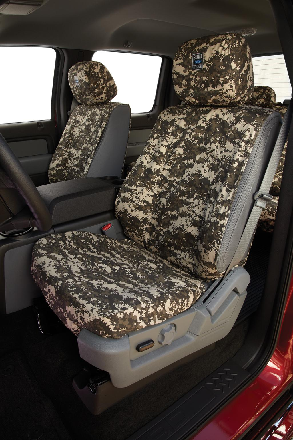 Seat Covers Front Row, 40/20/40, All Cabs Green Camo